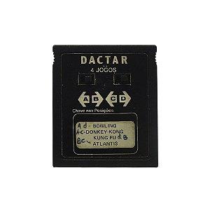 Jogo Dactar 4 jogos (Bowling, Donkey-Kong, Kung Fu, Atlantis) - Atari