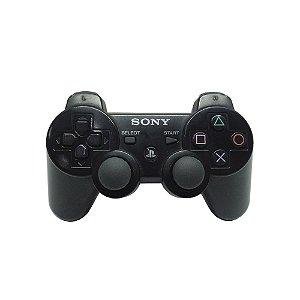 Controle Sony Dualshock 3 Preto - PS3 (Carcaça Avariada)