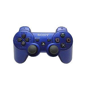 Controle Sony Dualshock 3 Azul - PS3 (Carcaça Avariada)