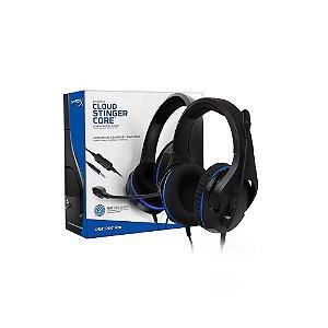 Headset Gamer HyperX Cloud Stinger Core Preto e Azul com fio - PS4