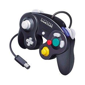 Controle GameCube Preto com fio - Nintendo