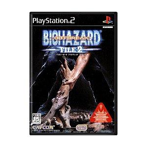 Jogo Biohazard Outbreak File 2 - PS2 (Japonês)