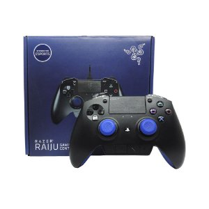 Controle Gamer Razer Raiju Preto com fio - PS4