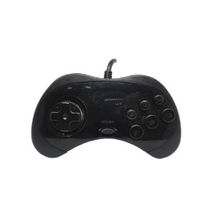 Controle Sega Saturn Preto com fio - SEGA