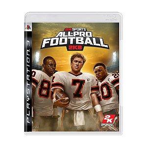 Jogo All-Pro Football 2K8 - PS3