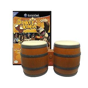 Jogo Donkey Konga + DK Bongo - GameCube