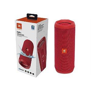 Caixa de Som JBL FLIP 4 Vermelha - Bluetooth