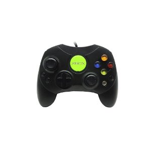 Controle Microsoft Preto com fio - Xbox Classic
