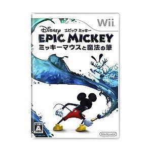Jogo Disney Epic Mickey - Wii (Japonês)