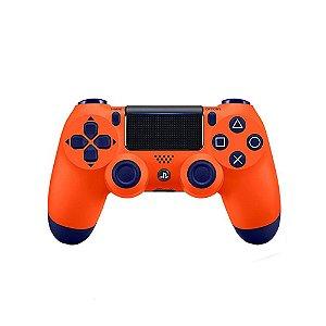 Controle Sony Dualshock 4 Laranja Sunset sem fio - PS4