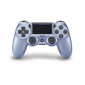 Controle Sony Dualshock 4 Titanium Blue sem fio - PS4