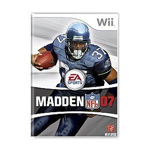 Jogo Madden NFL 07 - Wii