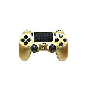 Controle Sony Dualshock 4 Dourado - PS4