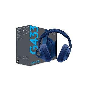 Headset Gamer Logitech G433 com fio - Multiplataforma