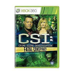 Jogo CSI: Fatal Conspiracy - Xbox 360