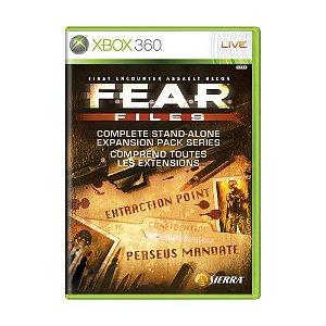 Jogo F.E.A.R. Files - Xbox 360
