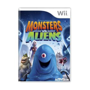 Jogo Monsters vs Aliens - Wii
