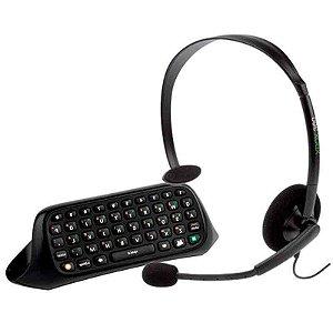 Chatpad + Headset com Fio Microsoft - Xbox 360