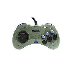 Controle Sega Saturn Cinza com fio - SEGA