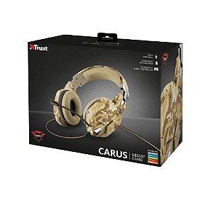 Headset Gamer Trust GXT Carus Desert Camo com fio - Multiplataforma