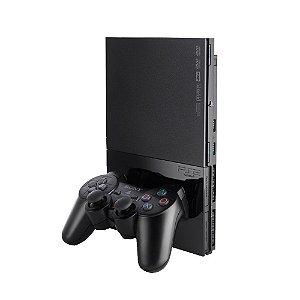Console PlayStation 2 Slim Preto - Sony (Japonês)