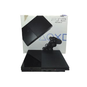 Console PlayStation 2 Slim Preto - Sony (Sem Controle)