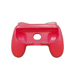 Suporte Hand Grip Vermelho para Joy-Con - Switch