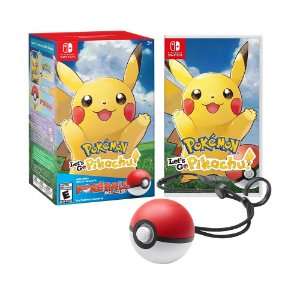 Jogo Pokémon: Let's Go, Pikachu! + Poké Ball Plus - Switch