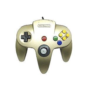 Controle Nintendo 64 Dourado - Nintendo