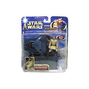 Action Figure Obi-Wan Kenobi (Force-Fliping Attack - Star Wars: Attack of the Clones) - Hasbro