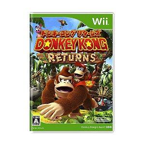Jogo Donkey Kong Country Returns - Wii (Japonês)