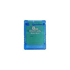 Memory Card Sony Azul Transparente - PS2