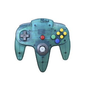 Controle Nintendo 64 Azul Anis Clear - Nintendo
