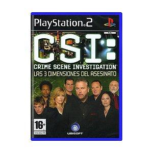 Jogo CSI: Crime Scene Investigation: Las 3 Dimensiones Del Asesinato - PS2 (Europeu)