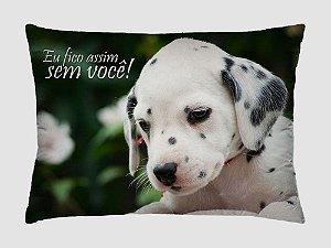 Almofada Retangular 35cm x 26cm + Capa Microfibra Com Estampa De Animais E Mensagens De Amor