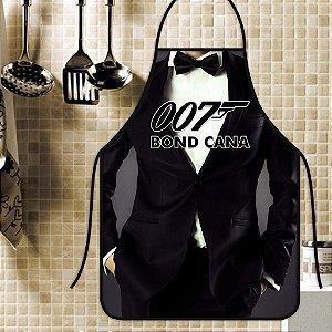 Avental Personalizado Com Estampa Cômica 007 Bond Cana