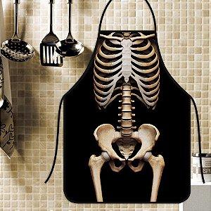 Avental Personalizado Com Estampa Cômica Esqueleto