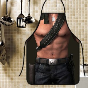 Avental Personalizado Com Estampa Cômica Rambo