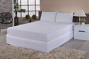 Protetor De Colchão 100% PVC Impermeável Casal Simples Para Colchão De 1,88m x 1,38m x até 16cm de altura