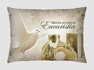 Almofada Retangular Com Capa Estampada Microfibra Da Minha Primeira Eucaristia