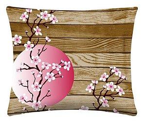 Almofada Digital Cerejeira Tecido Microfibra 0,40cm x 0,40cm