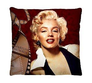 Almofada + Capa 40cm x 40cm Microfibra Estampada Com Imagem Da Marilyn Monroe Ref.:A217