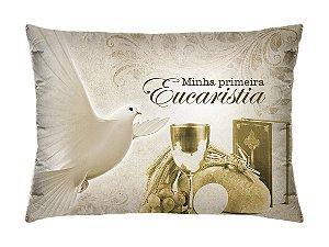 Almofada Retangular 35cm x 26cm + Capa Com Estampa Da Minha Primeira Eucaristia Ref.: T06