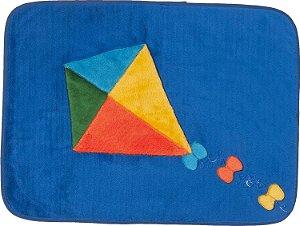 Tapete Pipa Infantil Pelúcia Retangular 0,68 x 0,48 cm