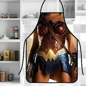 Avental Personalizado Com Estampa Cômica Mulher Maravilha