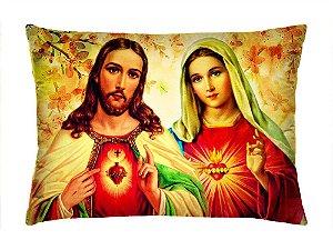 Almofada Retangular 35cm x 26cm + Capa Com Estampa De Santo Ref.: T151