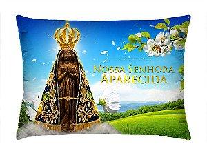 Almofada Retangular 35cm x 26cm + Capa Com Estampa Nossa Senhora Aparecida Ref.: T156