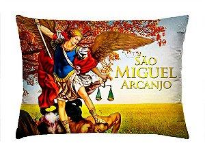 Almofada Retangular 35cm x 26cm + Capa Com Estampa São Minguel Arcanjo Ref.: T162