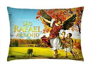 Almofada Retangular 35cm x 26cm + Capa Com Estampa São Rafael Arcanjo Ref.: T164