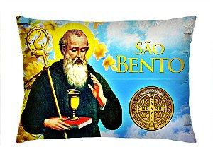 Almofada Retangular 35cm x 26cm + Capa Com Estampa São Bento Ref.: T165